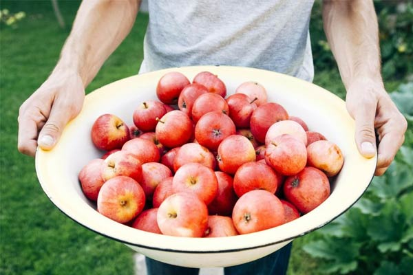 Молочный смузи с яблоками
