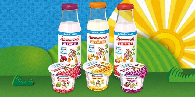 New products under the brand Yagotynske for Children: three new flavors of Yogurt and Cottage cheese pastes